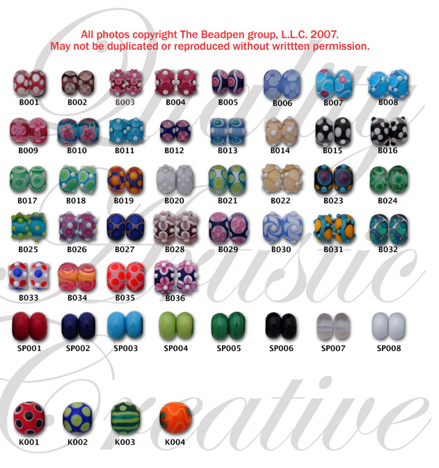 Handmade Lampwork Beads Available for Pre-Made Beadpens